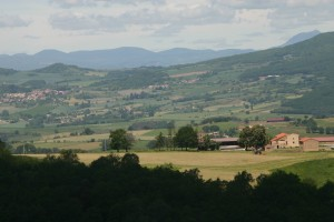 The View from the garden at La Verrerie - gite in the Livradois Forez part of the Auvergne